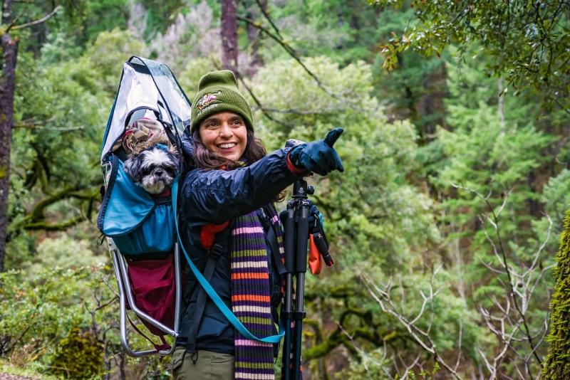 Indi and Carolita exploring the NorCal wilderness